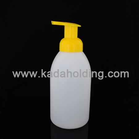 550ml HDPE soap foam pump bottle with 40mm foamer